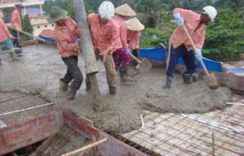 Sản phẩm bê tông tươi xây nhà Ninh Bình sử dụng để xây nhà đổ mái